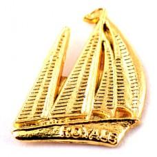 ピンズ・ボート帆船ヨット金色