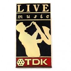 ピンズ・サックス奏者ジャズ音楽/TDKサクソフォン楽器