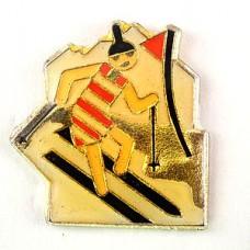 ピンバッジ・コダック社オリンピック五輪スキーサングラスの女の子
