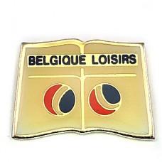 ピンバッジ・ベルギーの余暇の楽しみ白い本