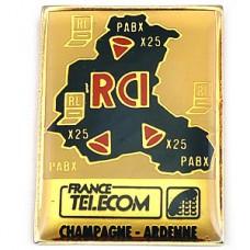 ピンバッジ・各地のコンピュータ機フランステレコム電話会社