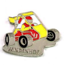 ピンバッジ・レースカー車カート黄色