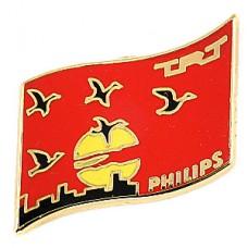 ピンズ・渡り鳥と夕日夕焼け空フィリップス社