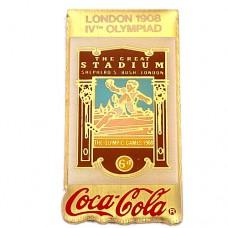 ピンバッジ・ロンドン五輪コカコーラ1908年イギリス英国