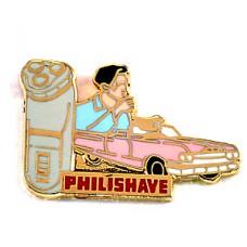 ピンズ・フィリップスの電気ヒゲソリ車ピンクのキャディラック男
