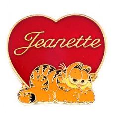 ピンズ・ガーフィールド猫ハート型ジャネット女の子の名前