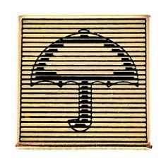 ピンバッジ・開いた傘かさ横縞