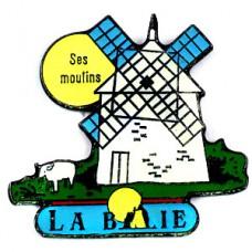 ピンズ・小麦を挽く風車小屋ヒツジ羊モンサンミッシェル修道院