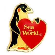 ピンズ・ペンギン赤いハート型シーワールド水族館