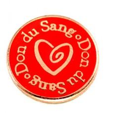 ピンバッジ・赤いハート献血