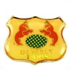 ピンバッジ・馬2の紋章パリの鞄店
