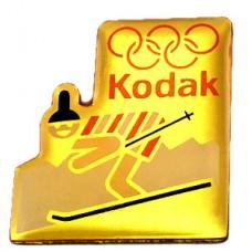 ピンバッジ・コダック社オリンピック五輪スキー写真スポンサー