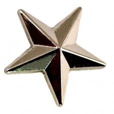 ピンズ・New!シルバー銀色の星スター立体型