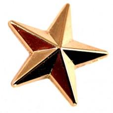 ピンバッジ・New!ゴールド金色の星スター立体型