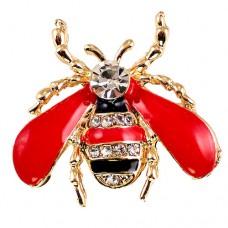 ブローチ・New!ミツバチ蜜蜂ラインストーン縞模様