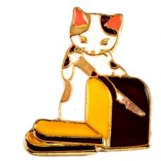 ピンズ・New!食パンを切る猫