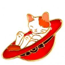 ピンズ・New!赤い帽子の中で眠る猫
