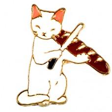 ピンズ・New!バゲットでバイオリン猫