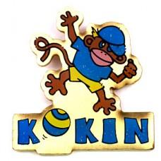 ピンズ・青いTシャツの猿サルくん