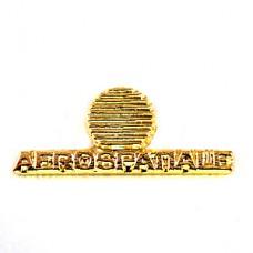 ピンバッジ・アエロスパシアル社ゴールド金色ロゴ航空
