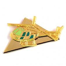 ピンバッジ・金色のヘリコプター軍用ミリタリー