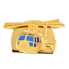 ピンバッジ・金色のヘリコプター軍用ミリタリー航空機