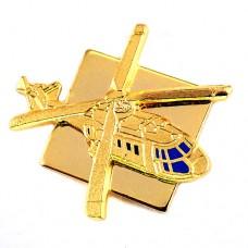 ピンズ・金色のヘリコプター軍用ミリタリー航空機