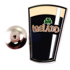 ピンズ・New!ギネスビール酒グラス三つ葉のクローバーアイルランド
