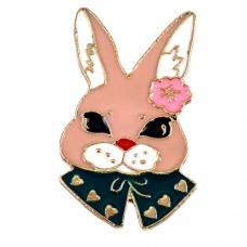 ピンズ・New!ピンク色のウサギ兎