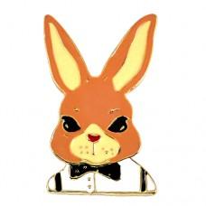 ピンズ・New!蝶ネクタイのウサギ兎