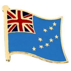 ピンズ・New!ツバル国旗オセアニア太平洋の島国デラックス薄型キャッチ付き