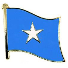 ピンズ・New!ソマリア国旗デラックス薄型キャッチ付きスター星