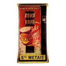ピンズ・ドリンク自動販売機コーラ缶ソーダ水