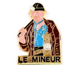 ピンバッジ・鉱山の鉱夫ブルーのシャツとスカーフ道具