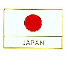 ピンズ・New!日の丸ジャパン日本の国旗 JAPANの文字