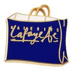 ピンズ・ギャラリーラファイエット青のバッグ紙袋