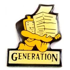ピンズ・積み上げた本を運ぶロボット世代