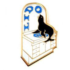 ピンズ・黒いアシカと洗面台