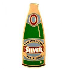ピンバッジ・ビール酒シルバーの瓶