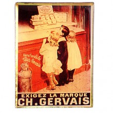 ピンズ・ジェルヴェ乳製品レトロ看板ミルク子ども達
