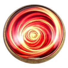 ピンズ・New!赤い渦巻き模様