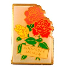 ピンズ・母の日バラの花ローズ薔薇ピンク赤黄色