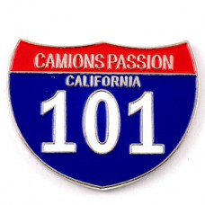 ピンバッジ・カリフォルニア101アメリカ車トラック情熱