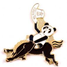ピンズ・パンダのカウボーイ馬カルガリー五輪カナダ帽子