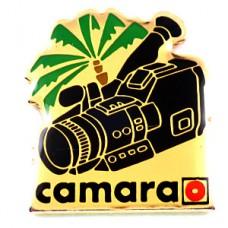 ピンズ・ビデオカメラ撮影機器やしの木