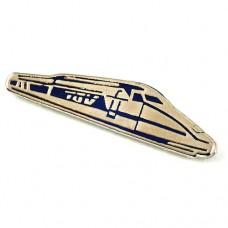 ピンバッジ・鉄道TGVフランス新幹線シルバー銀色