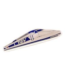ピンズ・フランスの新幹線TGV鉄道車両シルバー銀色