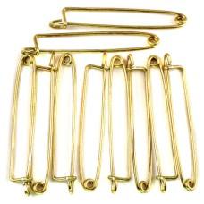 ブローチ製作用のパーツ針長さ50ミリ1セット10本