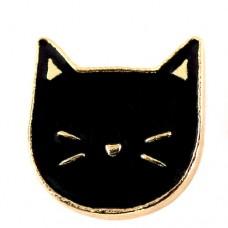 ピンズ・New!くろいネコ目をつむる黒猫