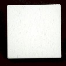 ピンバッジ・New!白い木5個1セット正方形バタフライ型キャッチ付き